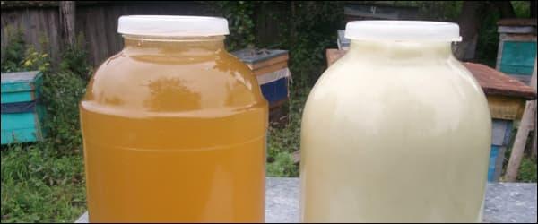 липовый мед жидкий и севший
