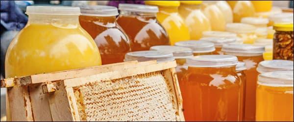 натуральный мёд в банках