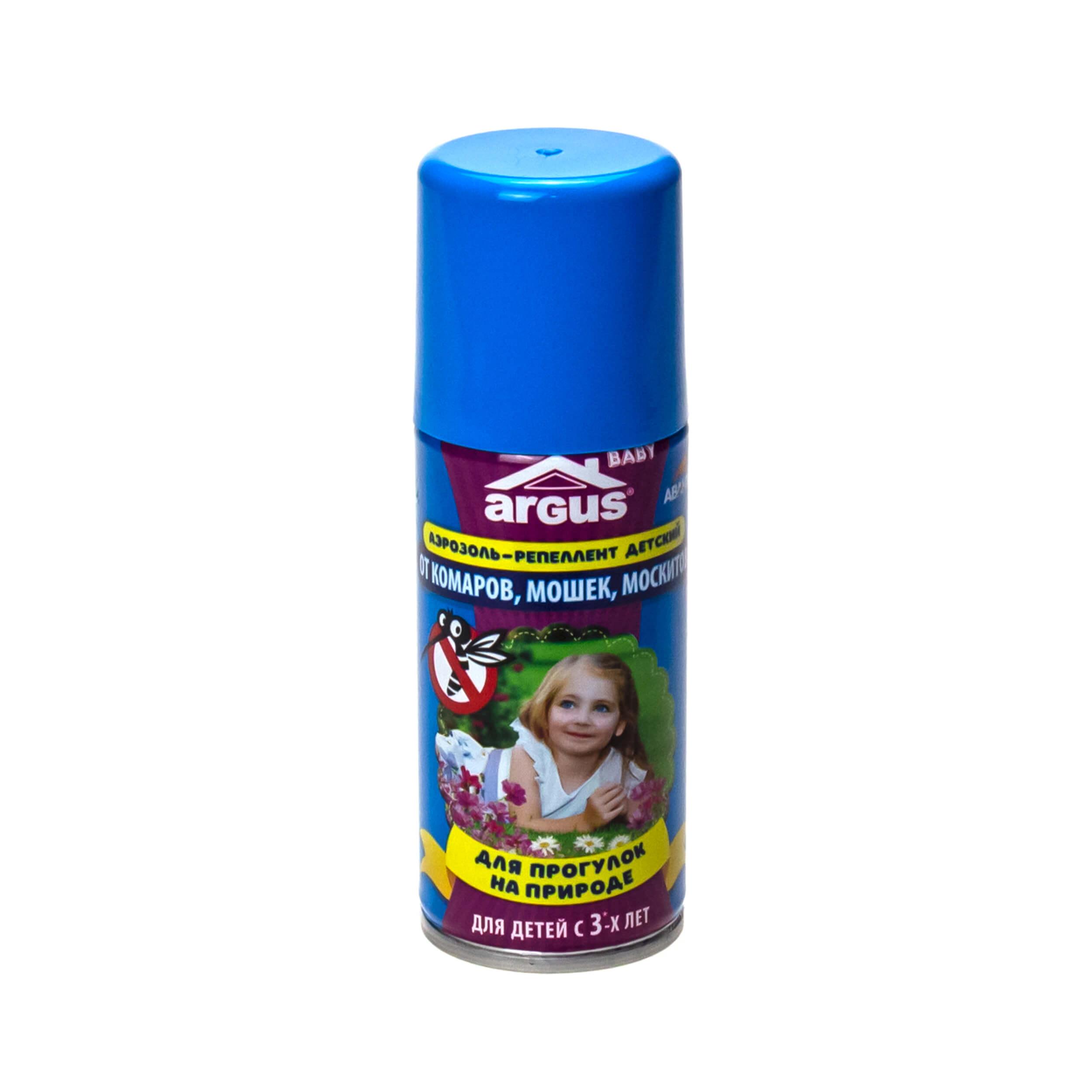 """Аэрозоль от комаров, мошек, москитов """"Argus-Baby"""" (для детей от 3 лет) фото"""
