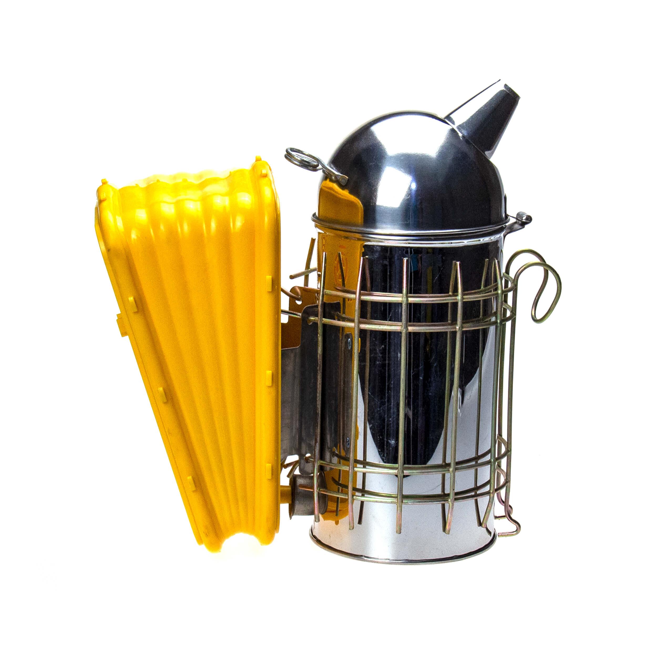 Дымарь Profi-III (нержавейка с пластмассовыми мехами без стакана) фото