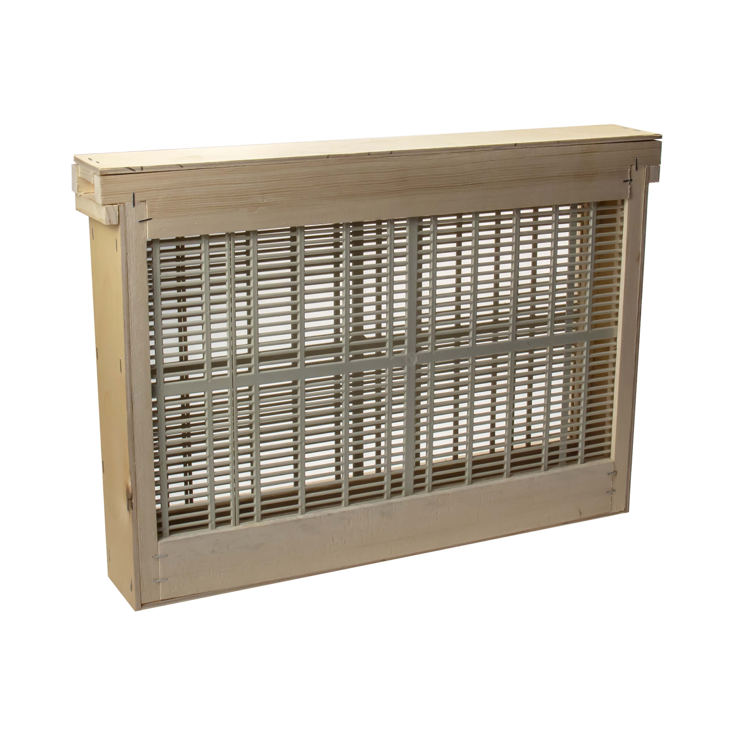 "Изолятор для пчелиных маток на 1 рамку ""Дадан"" решетка - пластик, корпус - фанера фото"