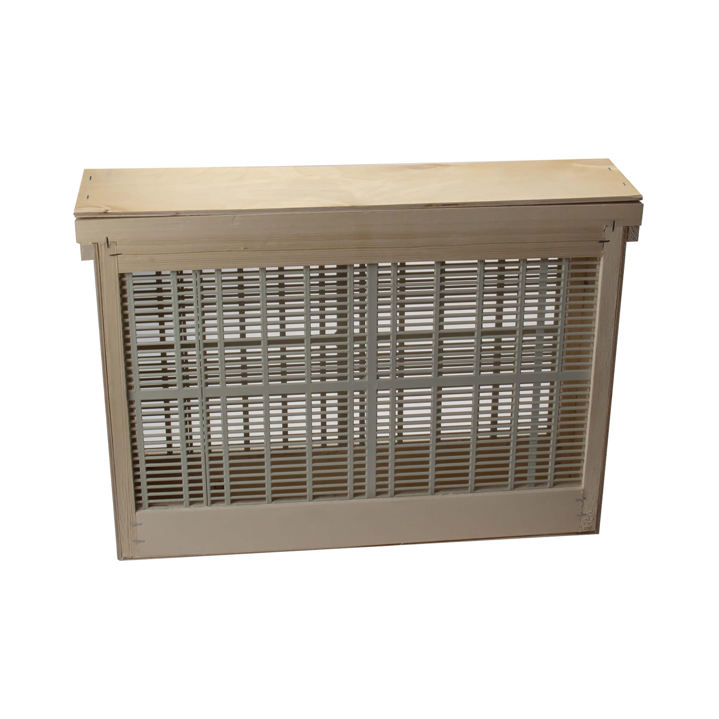 """Изолятор для пчелиных маток на 2 рамки """"Дадан"""" решетка - пластик, корпус - фанера фото"""