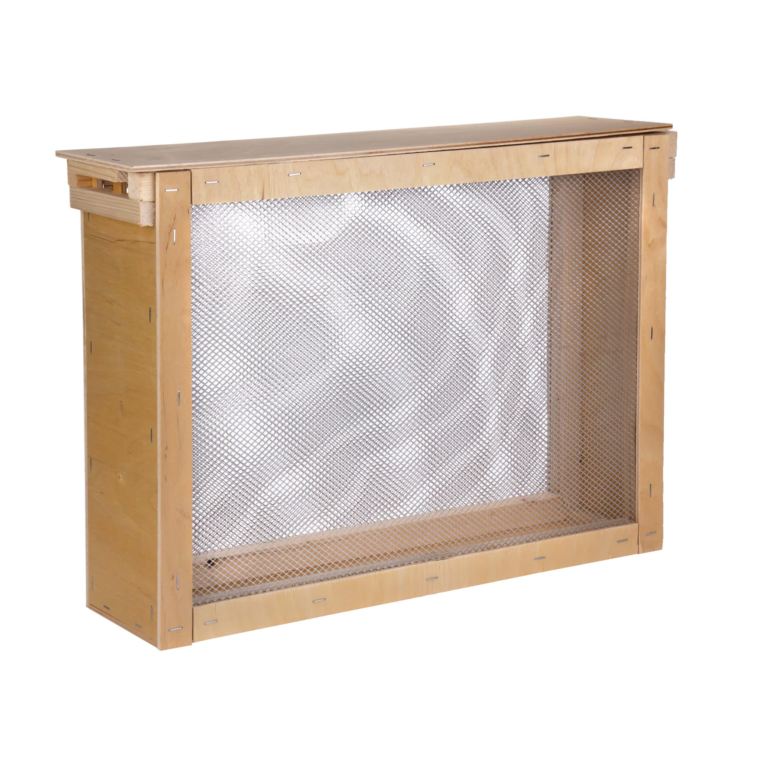 """Изолятор для пчелиных маток на 2 рамки """"Дадан"""" сетка - оцинкованная сталь, корпус - фанера фото"""