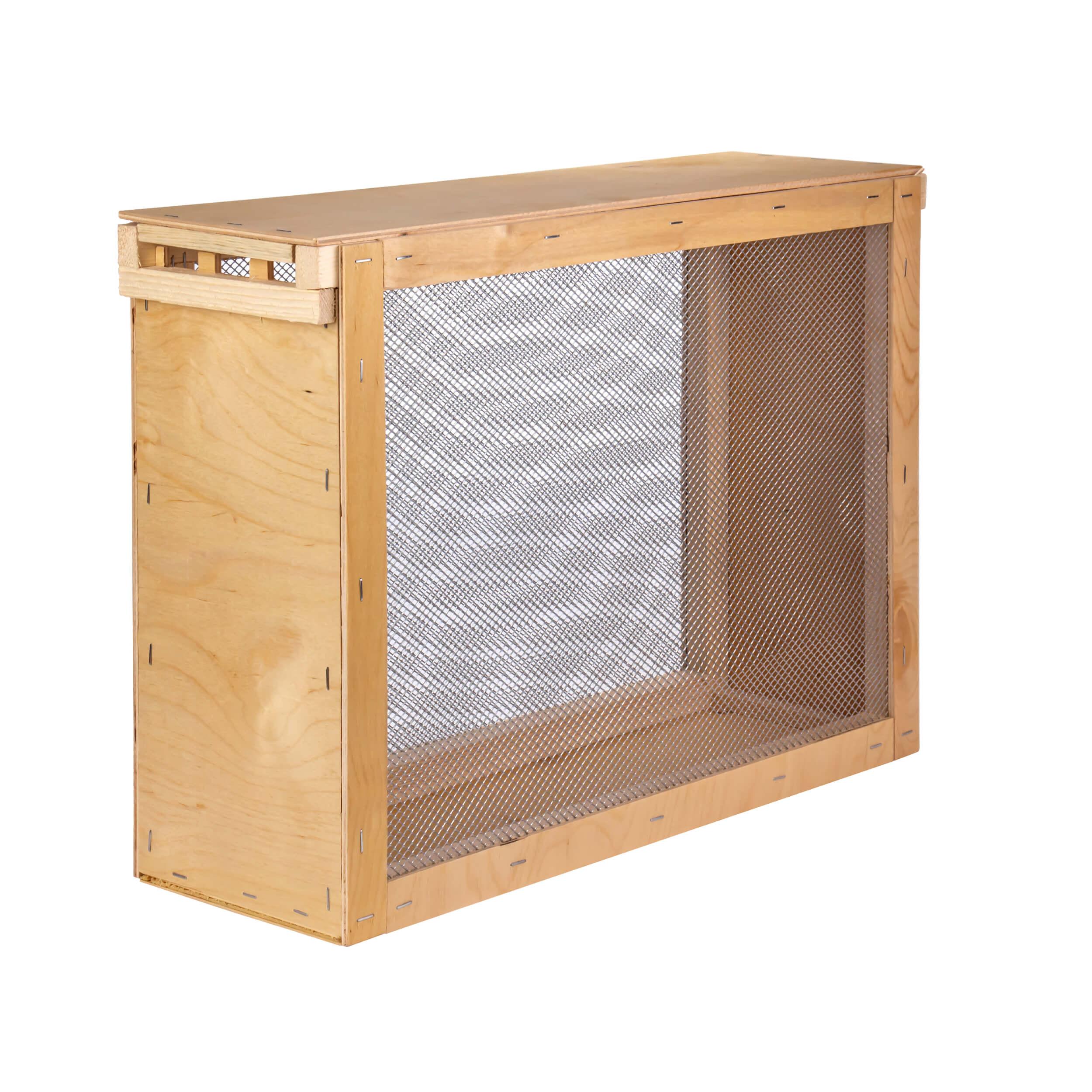 """Изолятор для пчелиных маток на 3 рамки """"Дадан"""" сетка - оцинкованная сталь, корпус - фанера фото"""