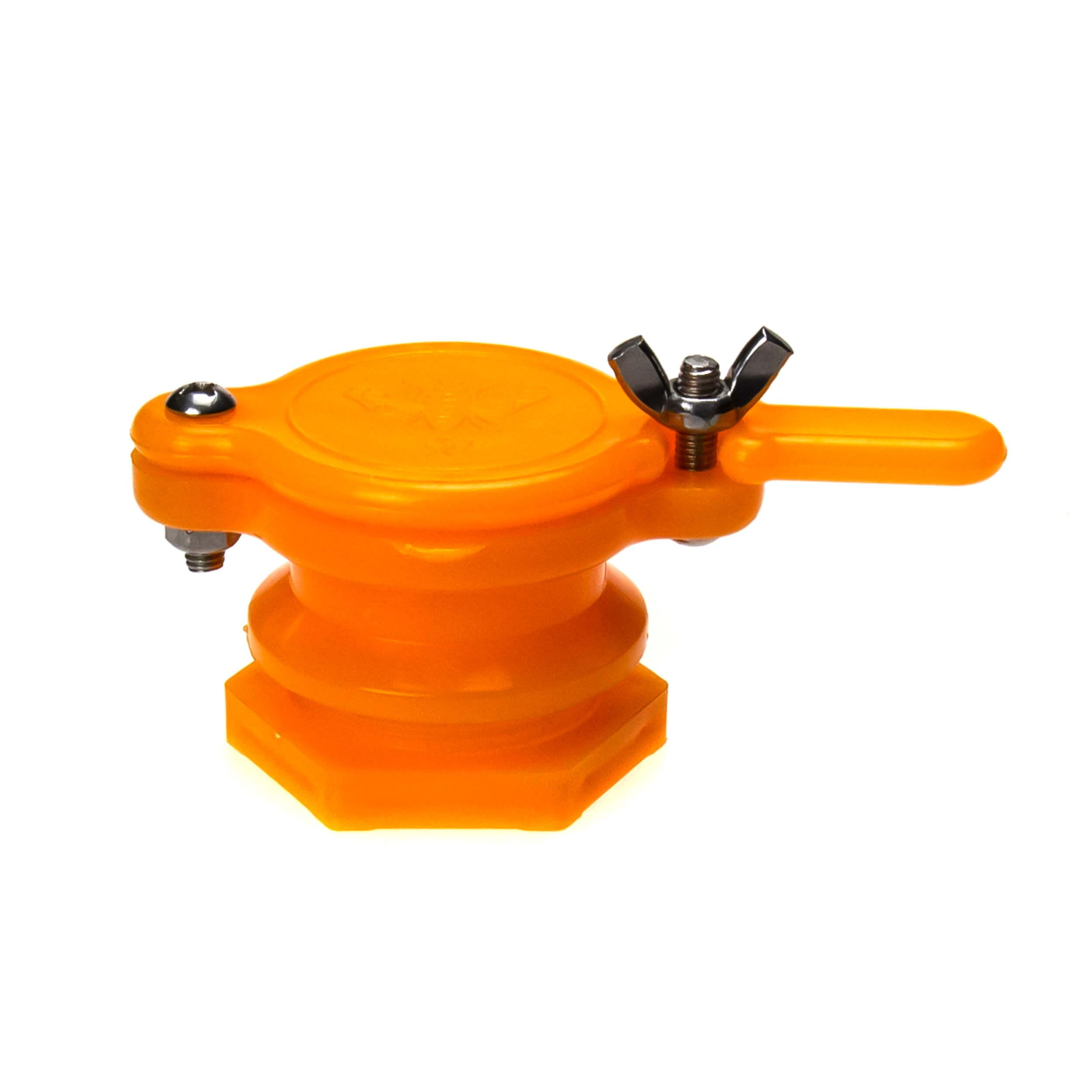 """Кран для медогонки """"Пчёлка-Orange"""" (пластик) фото"""