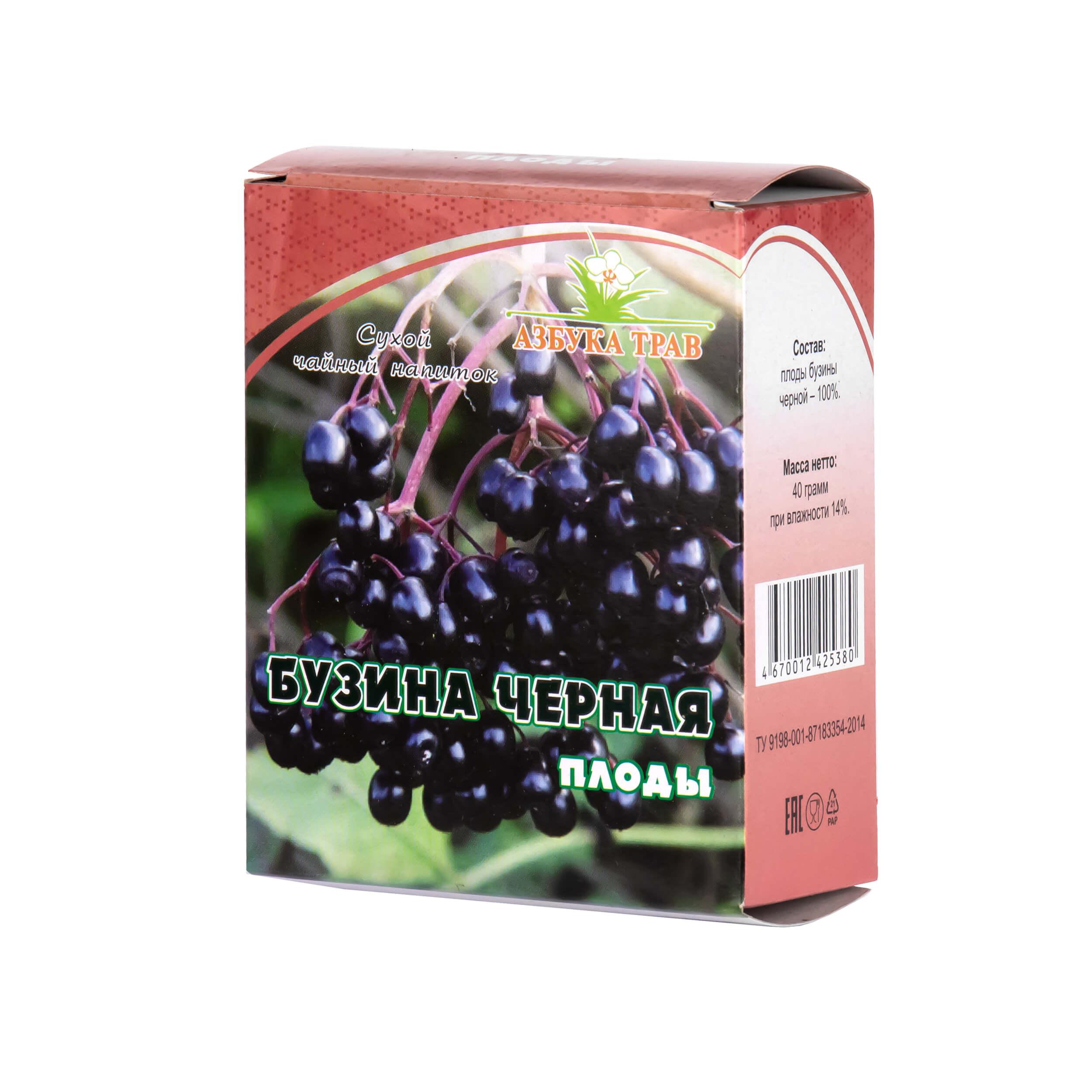 Бузина черная (плоды, 40 грамм) фото