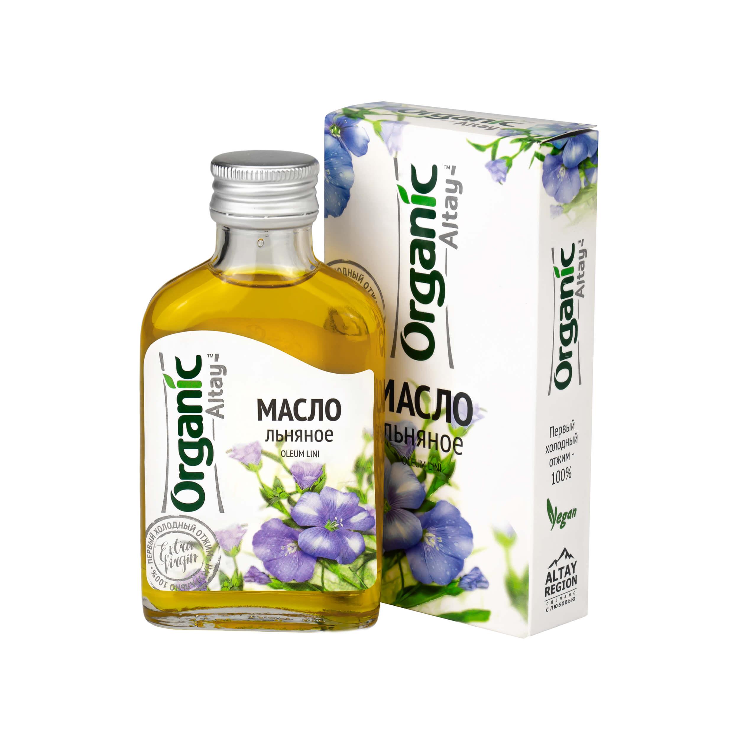 Льняное масло Organic Altay (100 мл) фото