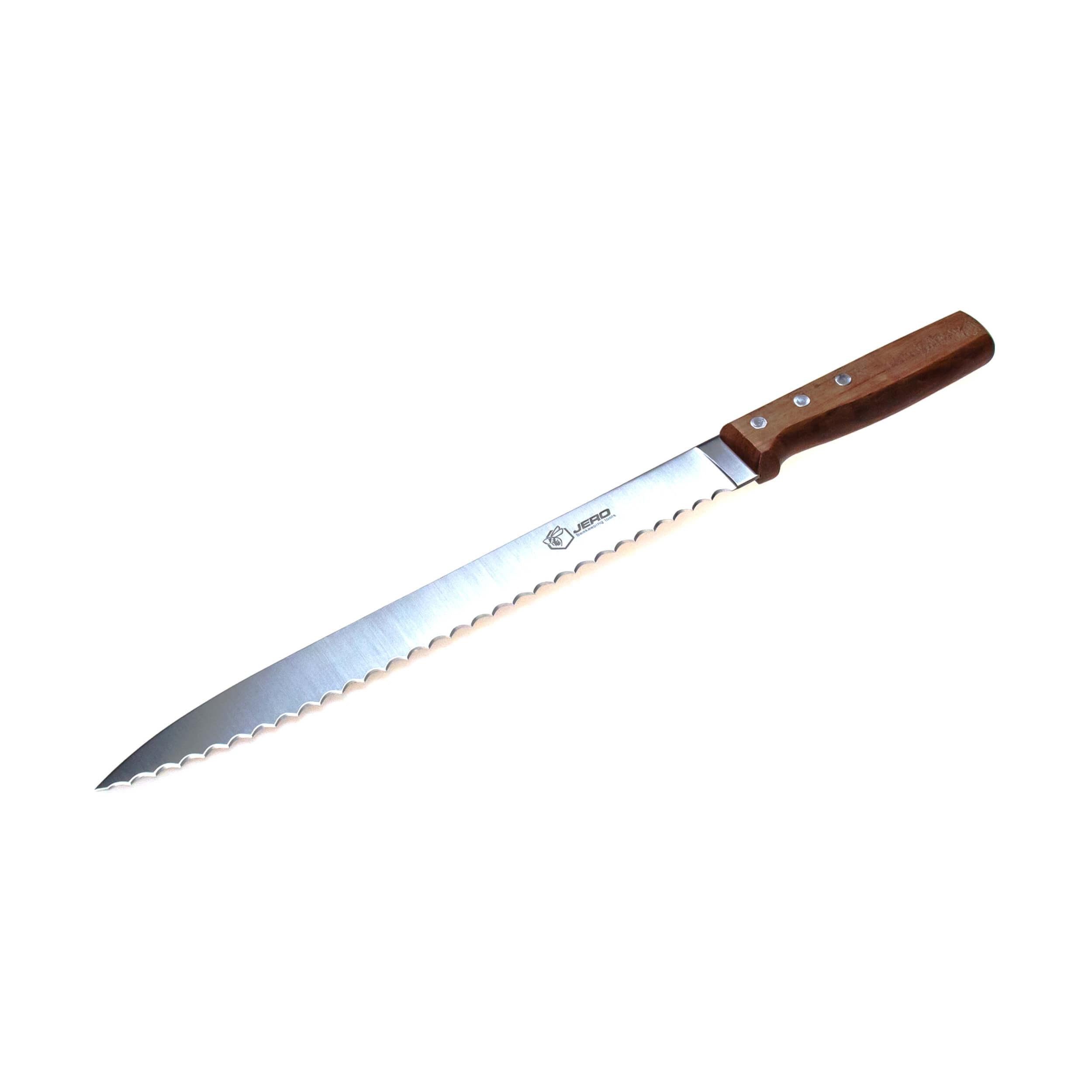 """Нож для нарезки сотового мёда """"Jero"""" (С1- 280 нержавейка с деревянной ручкой) фото"""