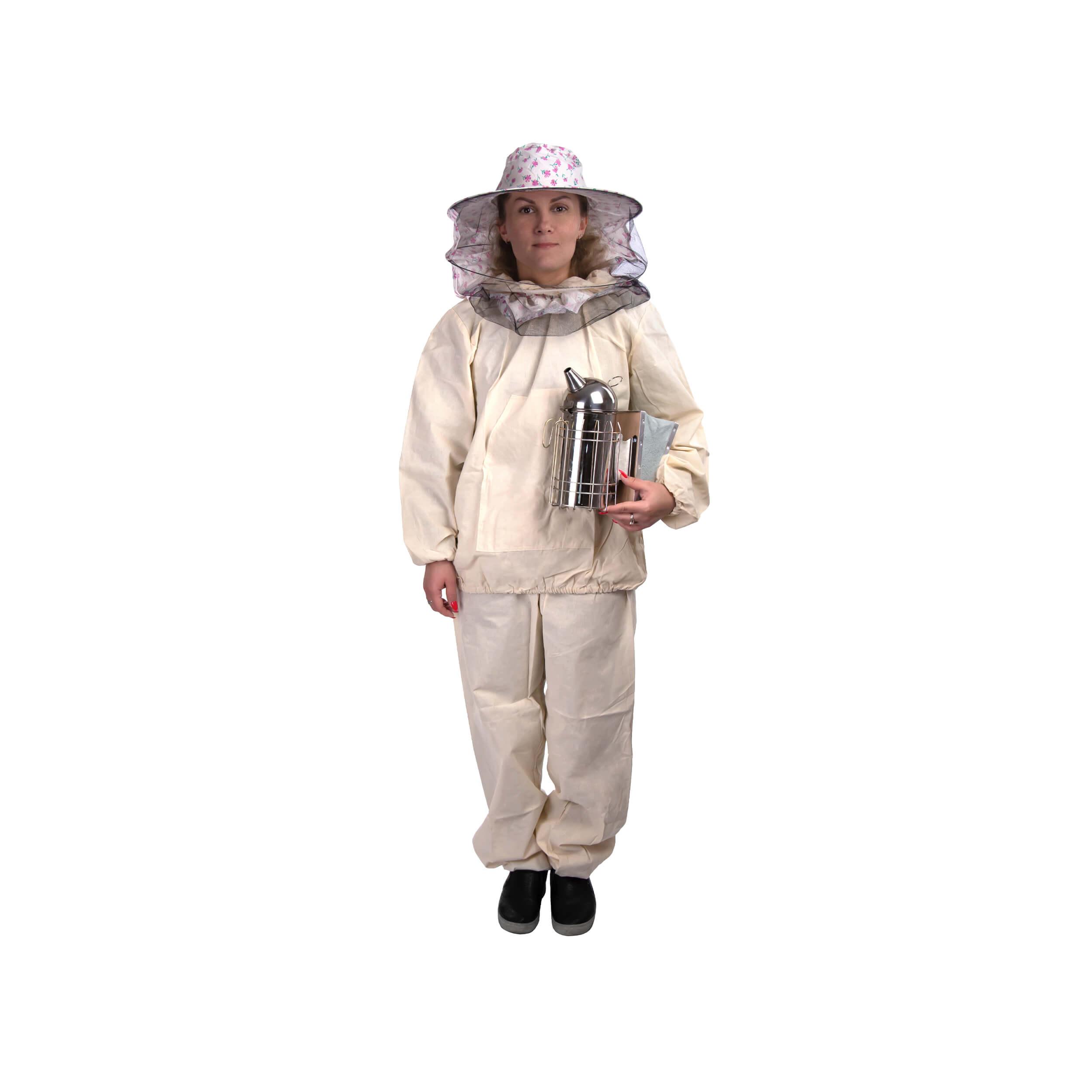 Костюм пчеловода детский плотный (38-40 размер) + лицевая сетка (рост 138-140) фото