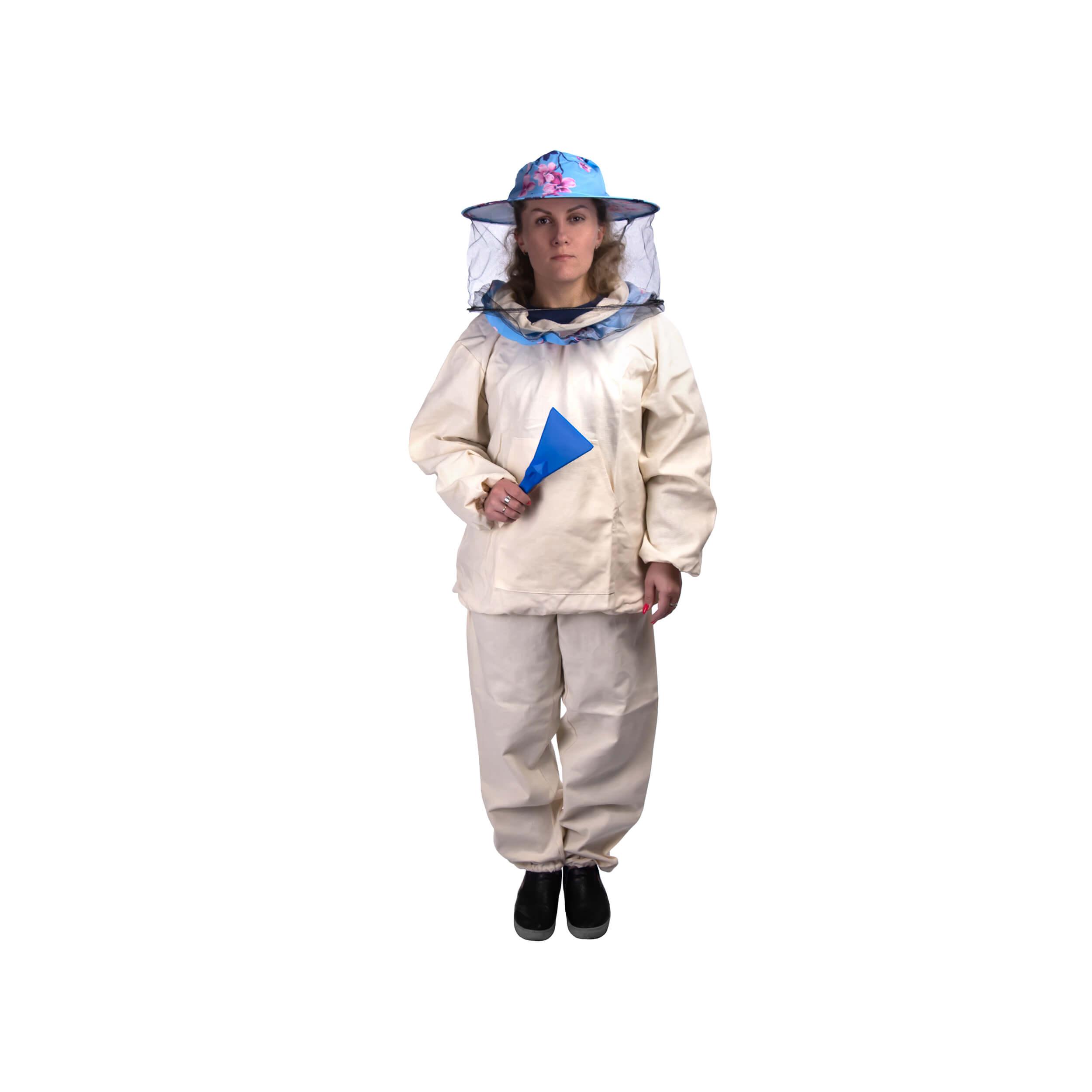 """Костюм пчеловода """"Пчеландия-ЭКО"""" плотный с кольцом + лицевая сетка (размер 42-44) фото"""