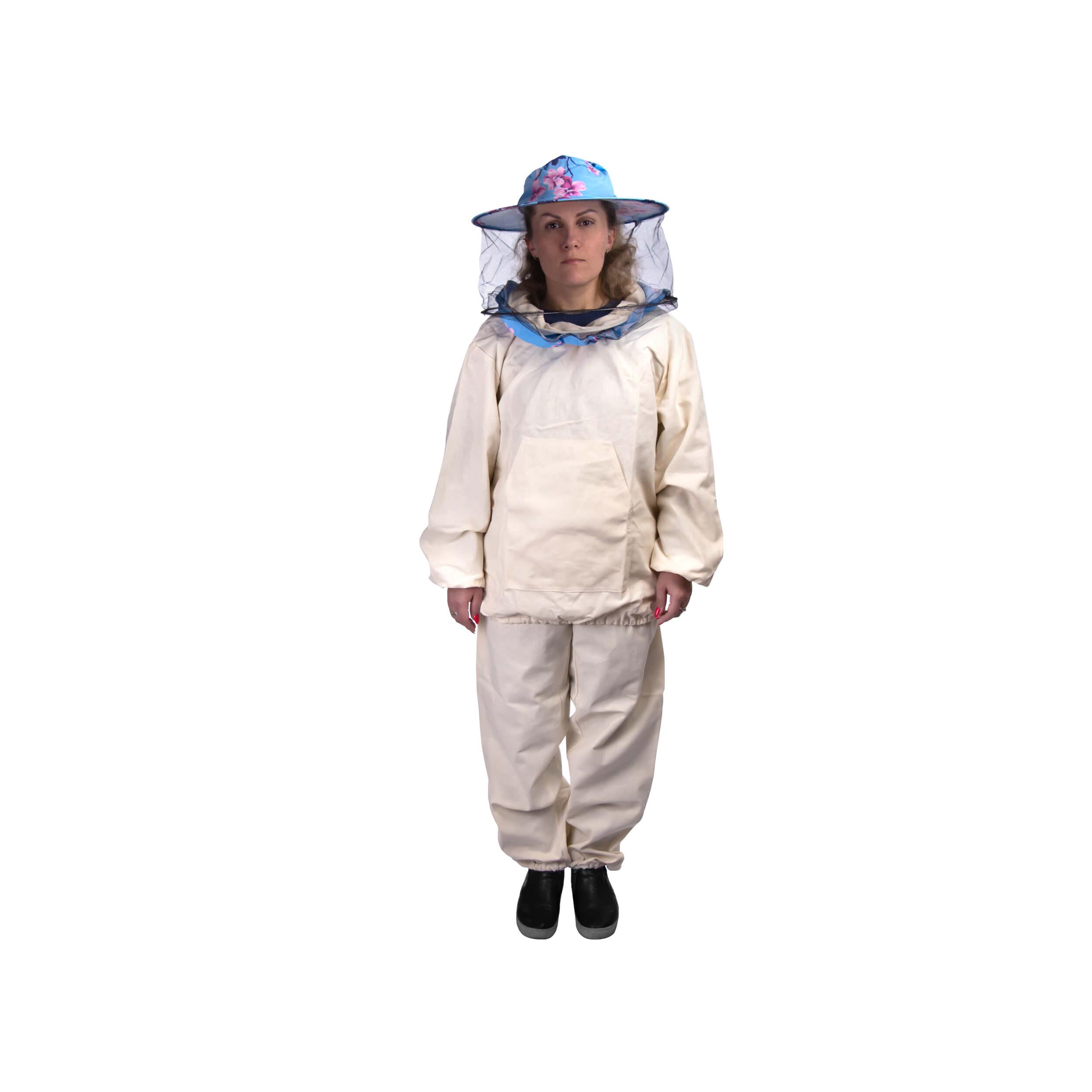 """Костюм пчеловода """"Пчеландия-ЭКО"""" легкий с кольцом + лицевая сетка (размер 42-44) фото"""