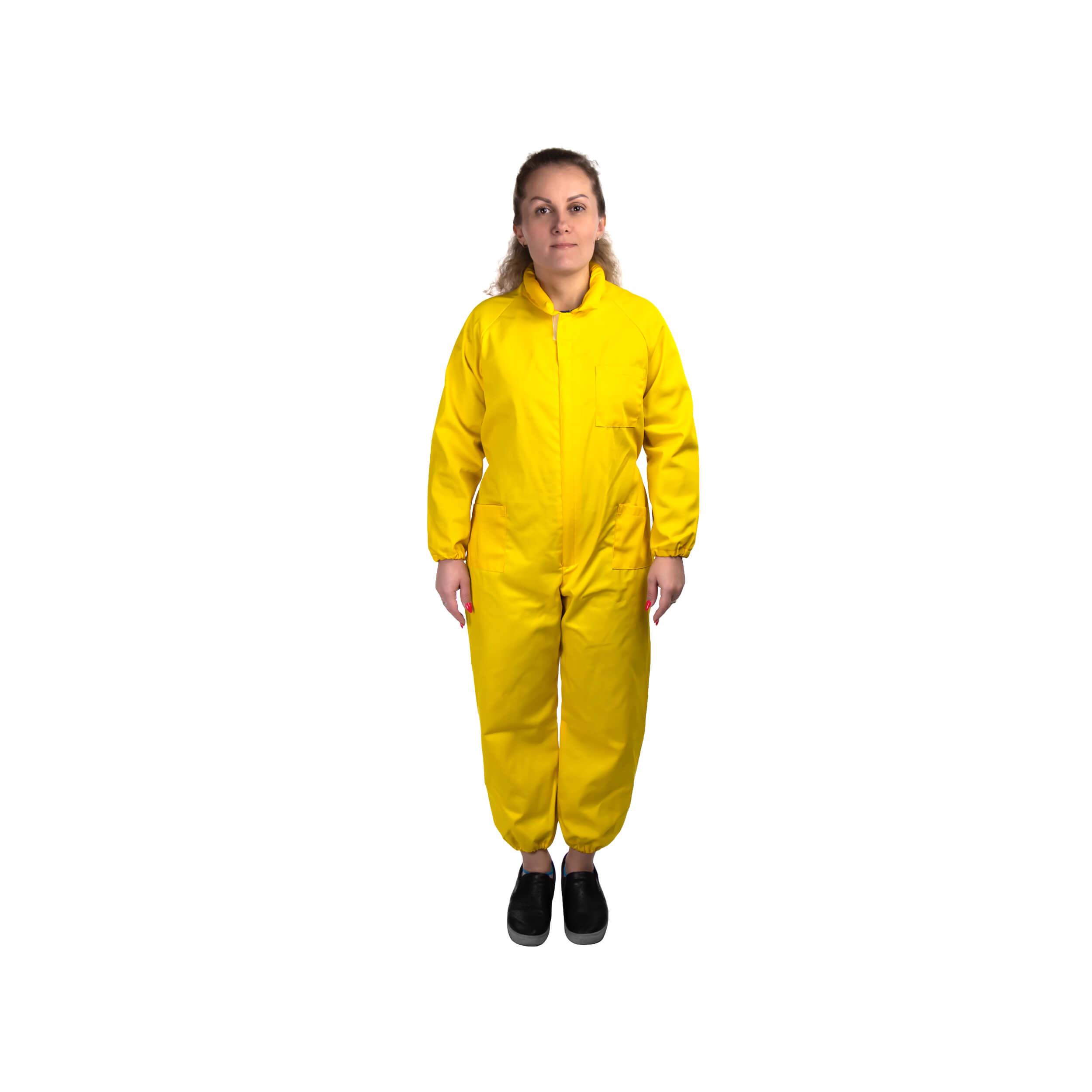 Комбинезон пчеловода детский Пчеландия Kids Protection (жёлтый, 38-40 размер, рост 138-140) фото