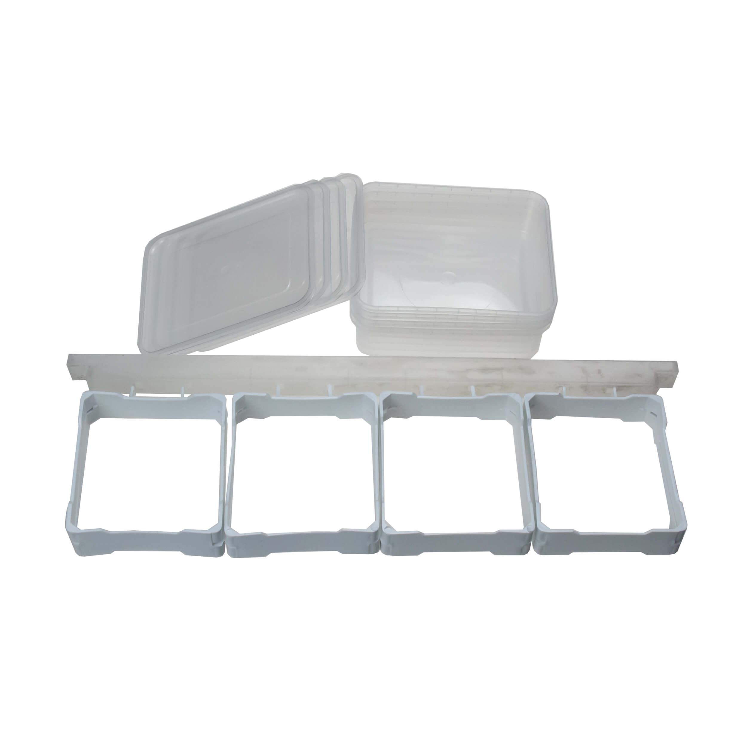 "Рамки для сотового меда с контейнерами ""BeeHoney-4"" (комплект на 4 мини рамки) фото"