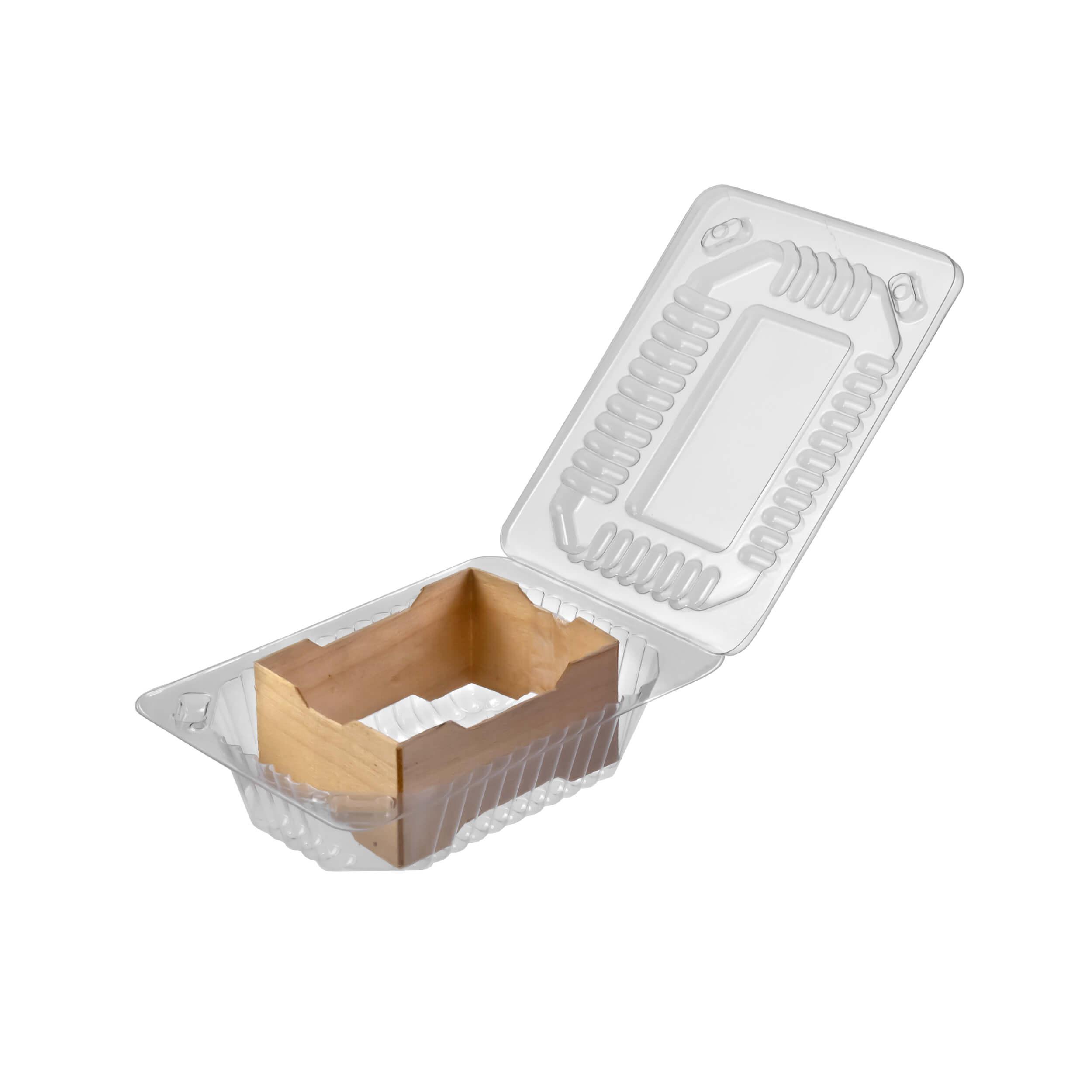 Деревянная рамка для секционного меда с контейнером (52х68х37, упаковка 50 штук) фото