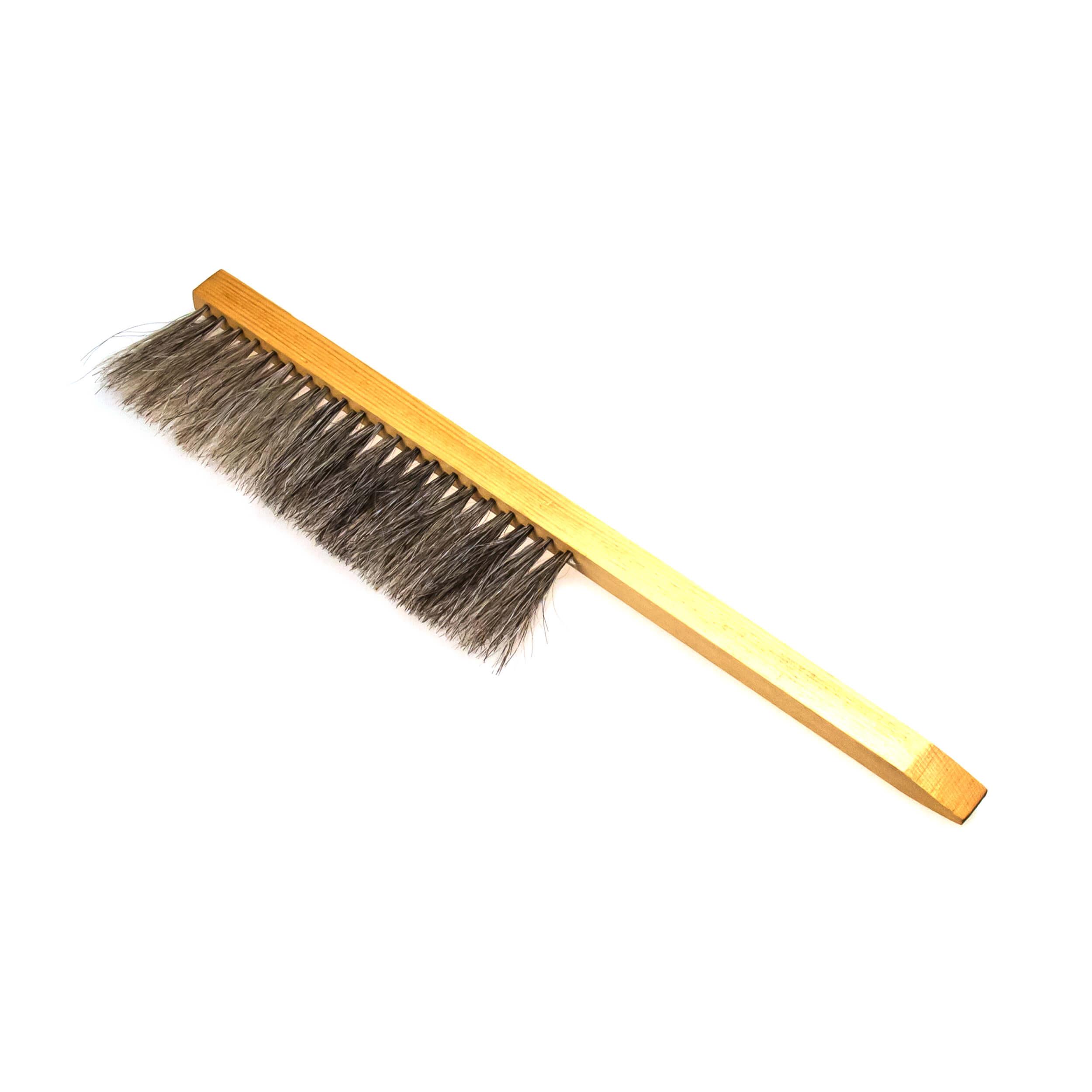 """Щетка сметка """"Horsehair Bee Brush"""" двурядная (натуральный конский ворс, деревянная ручка) фото"""