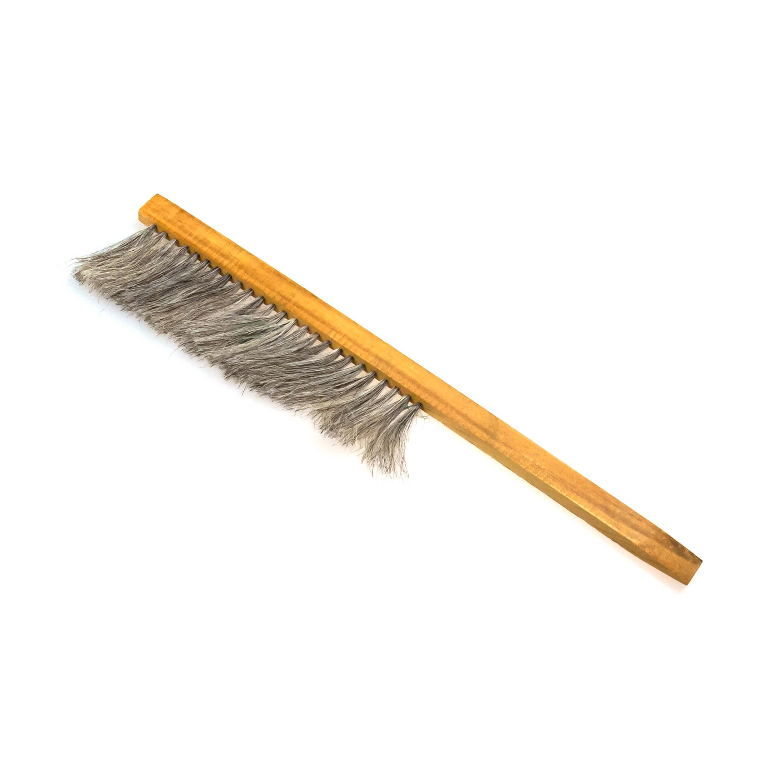 """Щетка сметка """"Horsehair Bee Brush"""" однорядная (натуральный конский ворс, деревянная ручка) фото"""