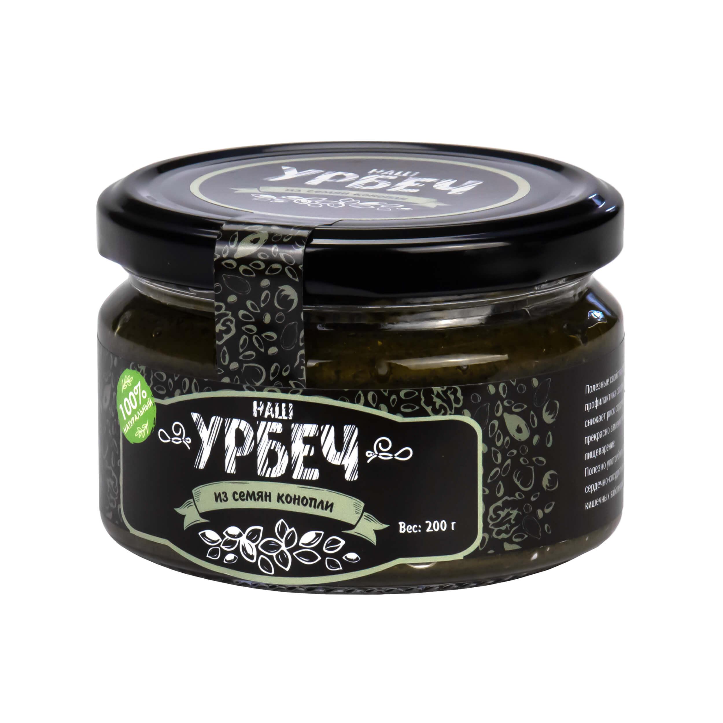 Урбеч из семян конопли (200 грамм) фото