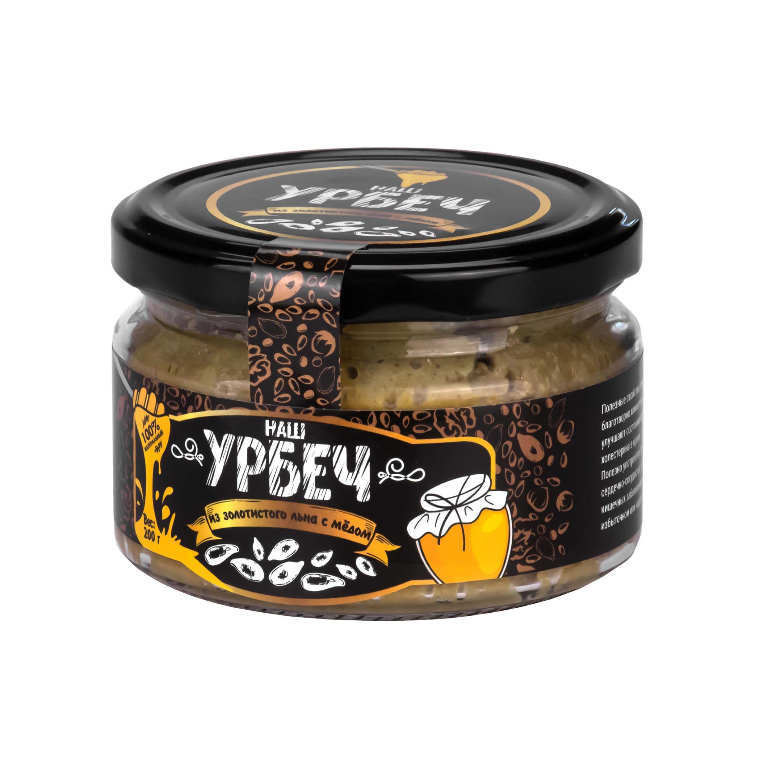 Урбеч из золотистого льна с медом (200 грамм) фото