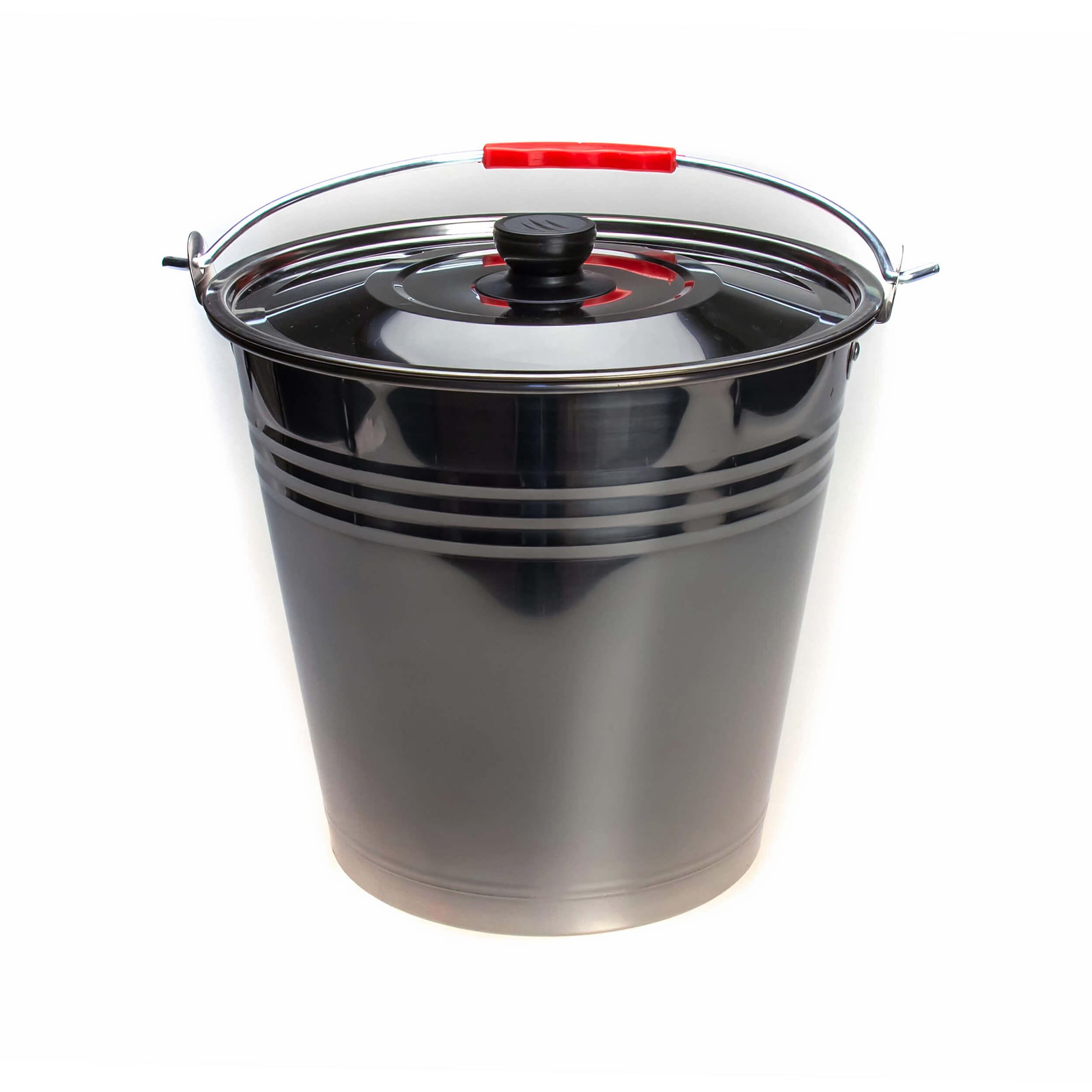 Ведро из нержавеющей стали 16 литров (крышка) фото