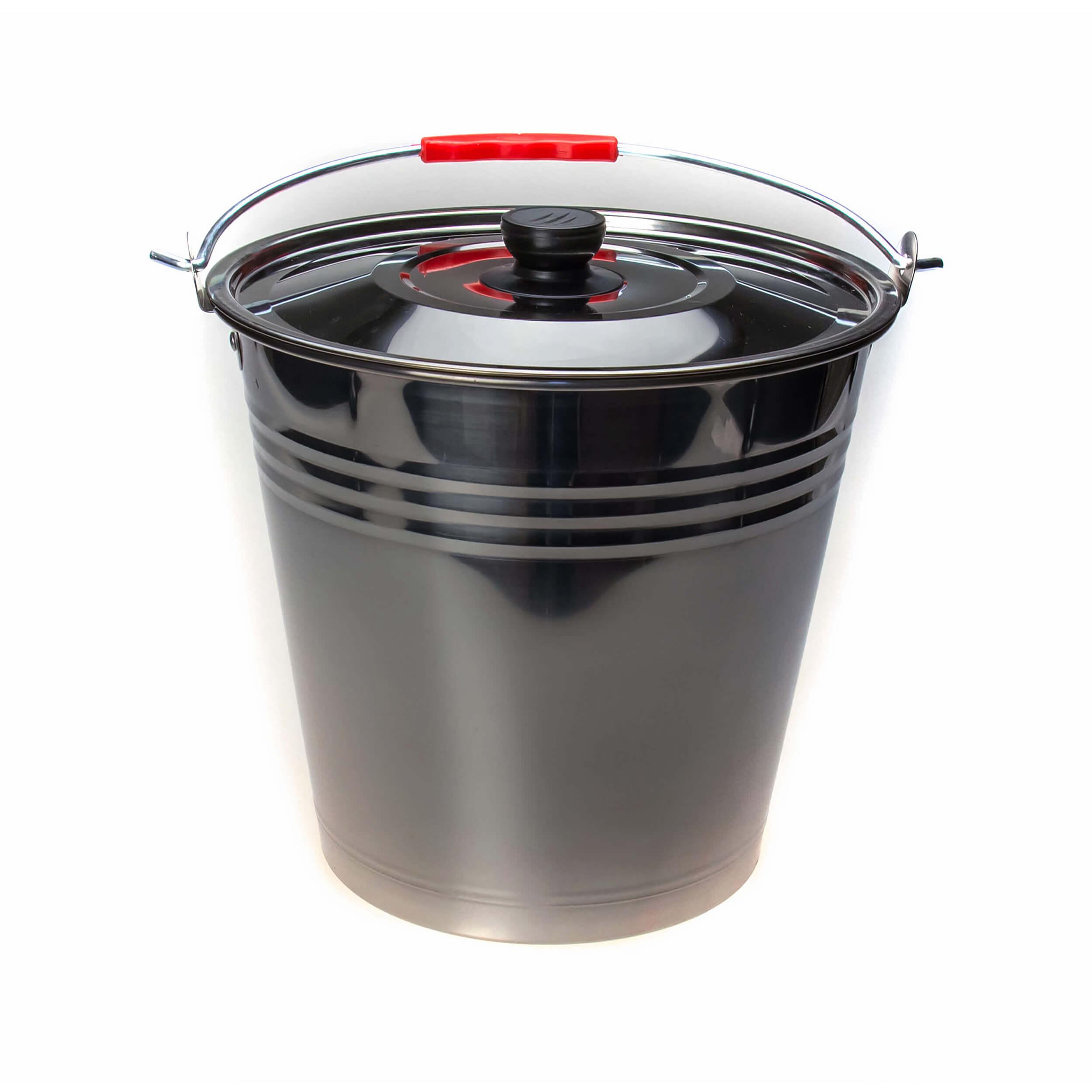Ведро из нержавеющей стали 20 литров (крышка) фото