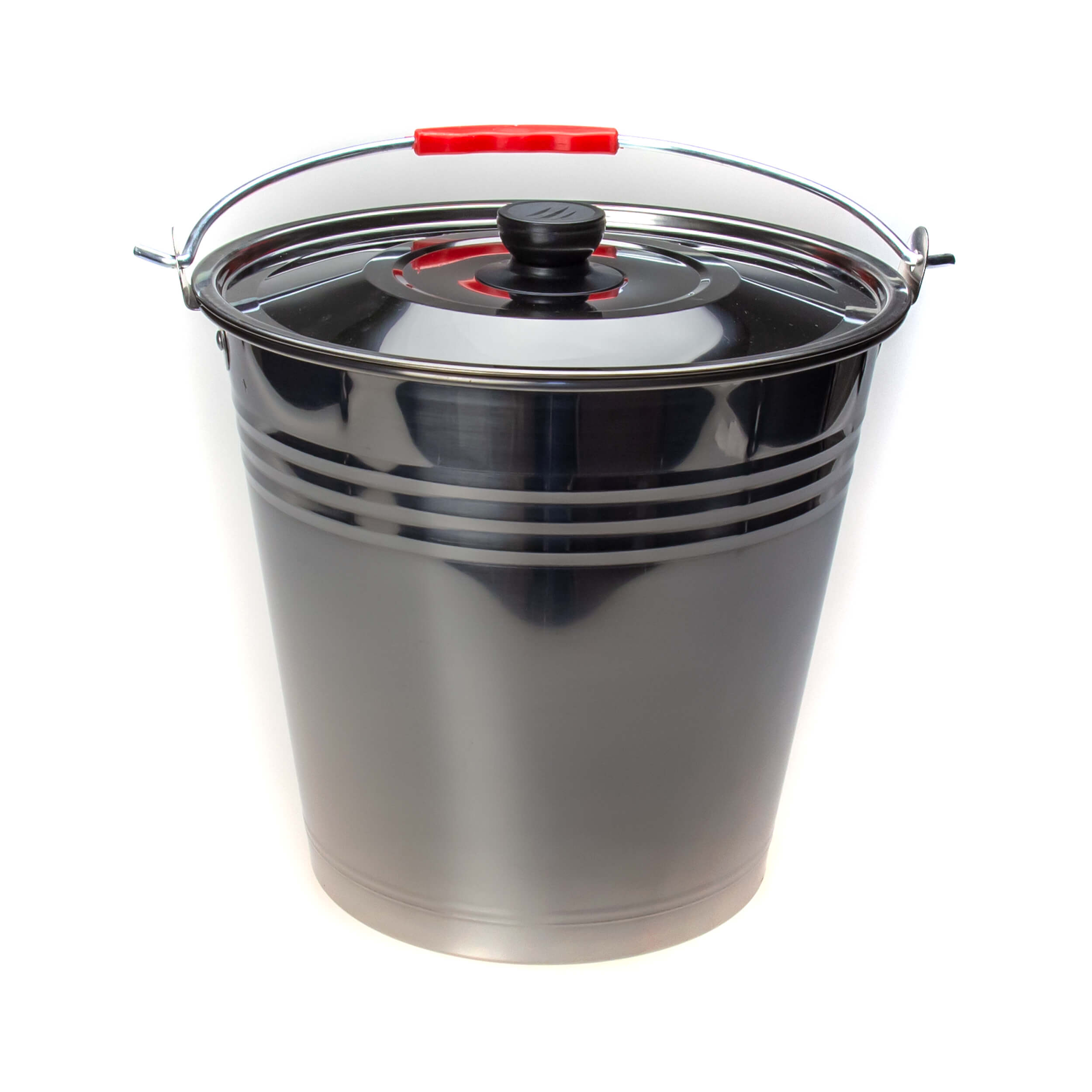 Ведро из нержавеющей стали 7 литров (крышка) фото