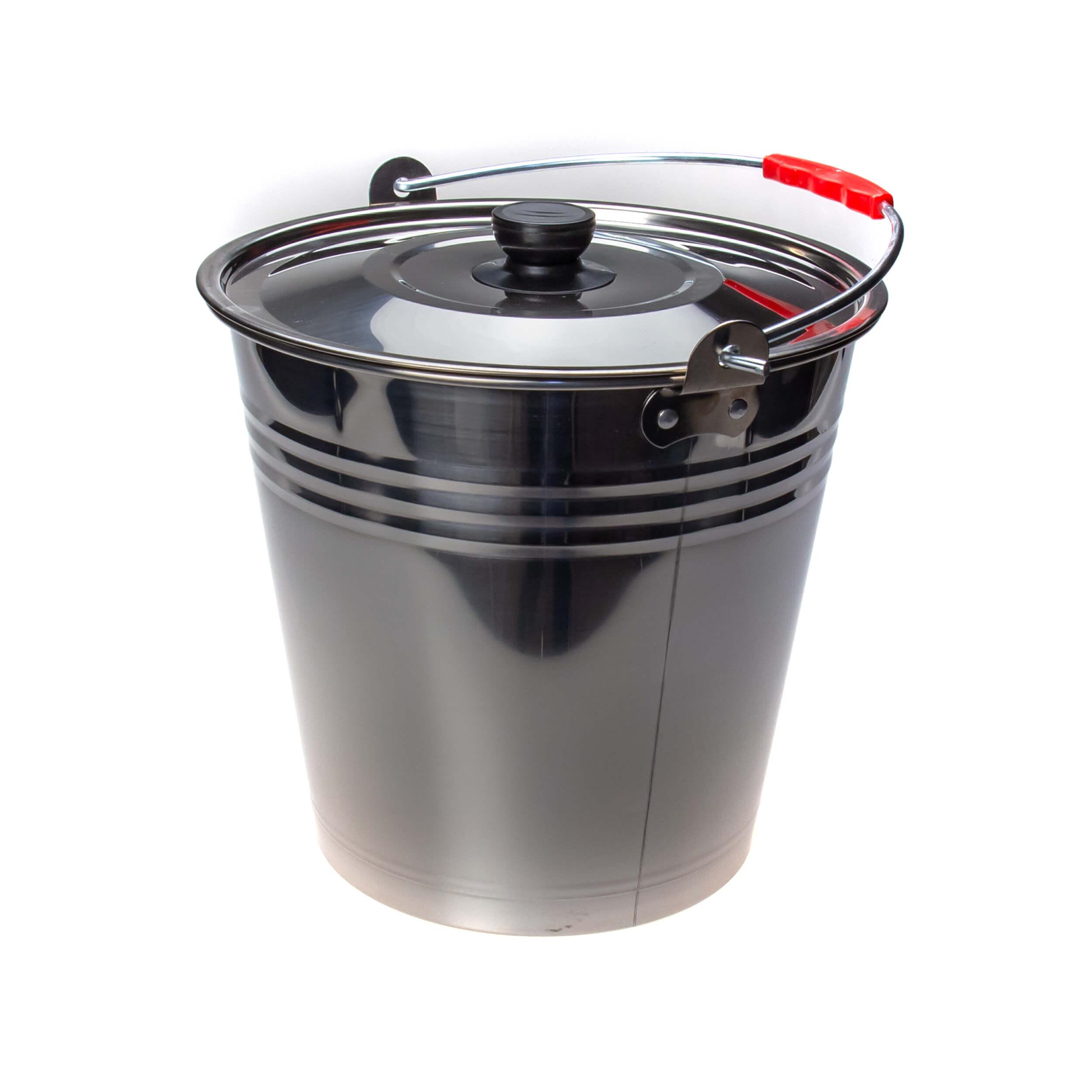 Ведро из нержавеющей стали 9 литров (крышка) фото