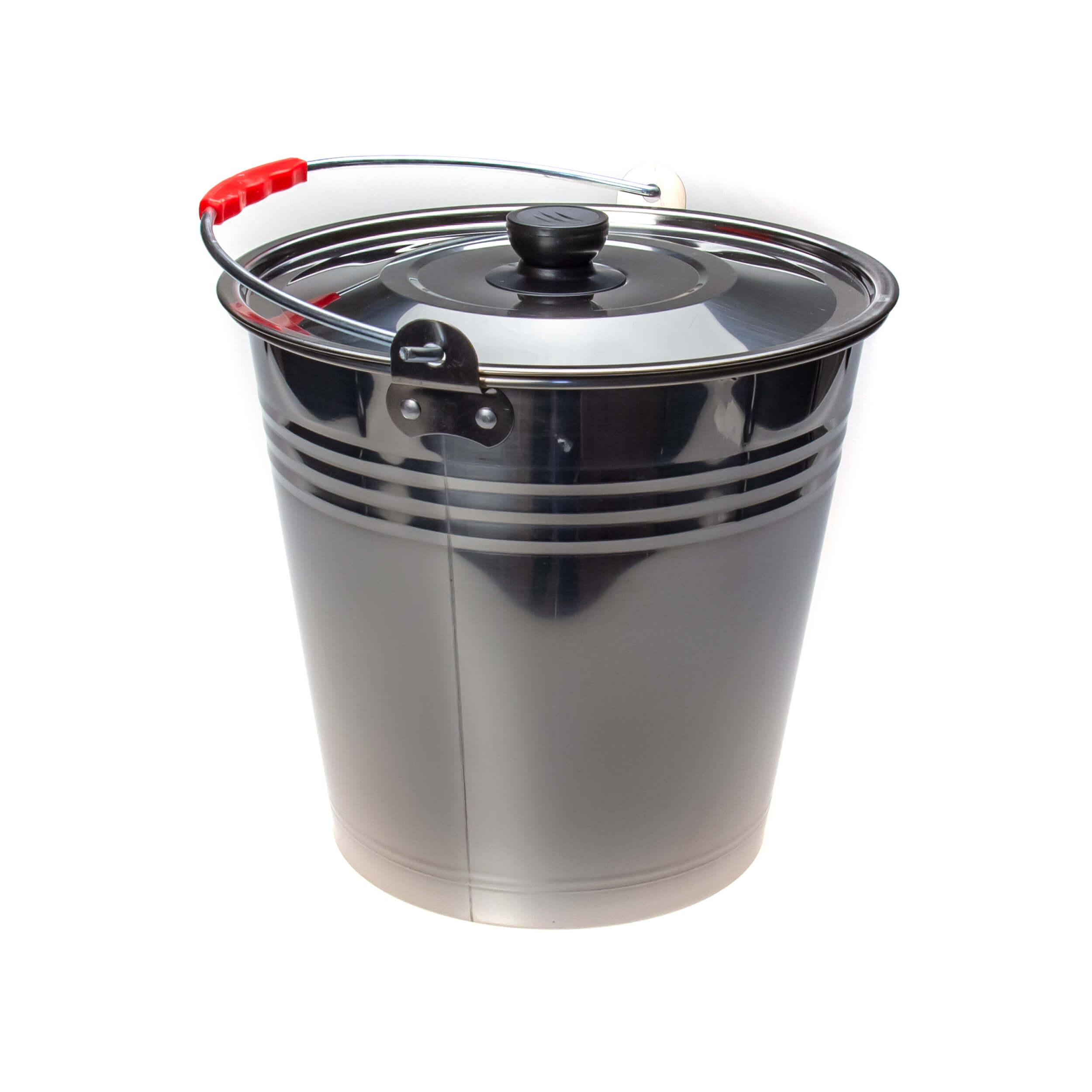 Ведро из нержавеющей стали 12 литров (крышка) фото