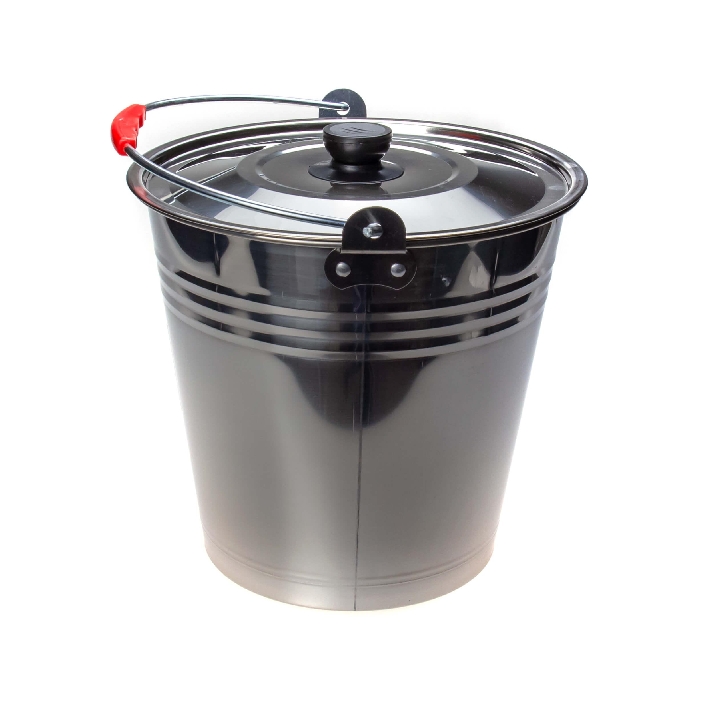 Ведро из нержавеющей стали 8 литров (крышка) фото