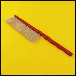 Щетка сметка однорядная (натуральный ворс, пластиковая ручка, Россия) фото