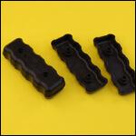 Накладки ручки инвентаря (цвет черный, пластик) фото