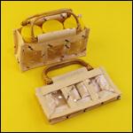 Декоративная сумка-подарок для банок с медом фото