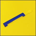 """Летковый заградитель 2-х элементный нижний c отверстиями для вентиляции """"Синий"""" (пластик) фото"""