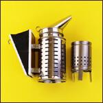 "Дымарь для пчел ""BF-DPN-3"" (нержавейка, макс защита, стакан) фото"