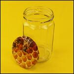 Банка стеклянная для мёда с крышкой (280 мл, 24 штуки) фото