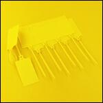 Бирка нумерации улья и года матки (цвет желтый, 2017, 2022 год, 10 штук) фото