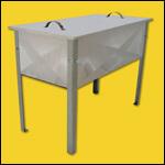 "Стол для распечатки рамок ""Профи"" (2 корзины, 53х108, нержавейка) фото"