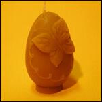 """Форма силиконовая для изготовления свечей """"Пасхальное яйцо с бабочкой"""" фото"""