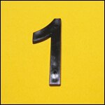 "Цифра ""1"" (цвет чёрный) фото"
