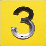 "Цифра ""3"" (цвет чёрный) фото"
