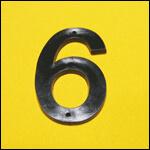 "Цифра ""6"" (цвет чёрный) фото"