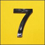 "Цифра ""7"" (цвет чёрный) фото"