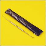 Шпатель двусторонний металлический для переноса личинок (Швейцария) фото